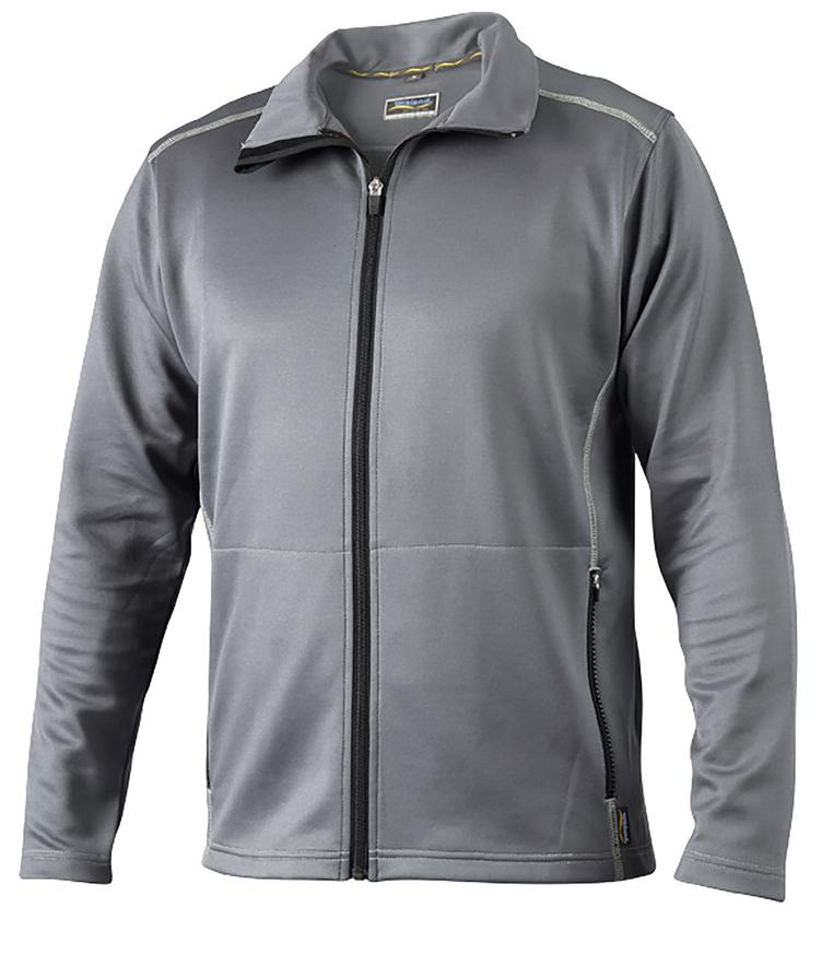 °°Hr. Funktions-Sweatjacke 7203 grau