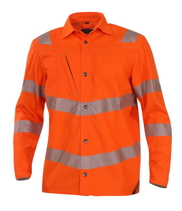 °°Hemdjacke 1269 ISO20471Kl3 orange
