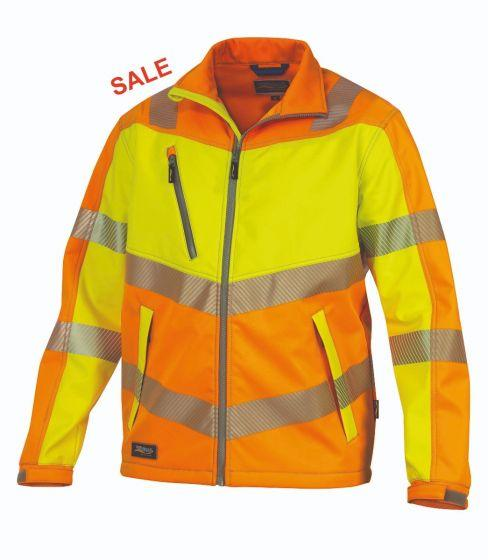 °HR. SOFTSHELL ISO20471 9632 ORANGE/GELB